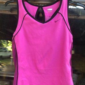Nike Fit Dri Women's Pink Tank Top Racer Size M